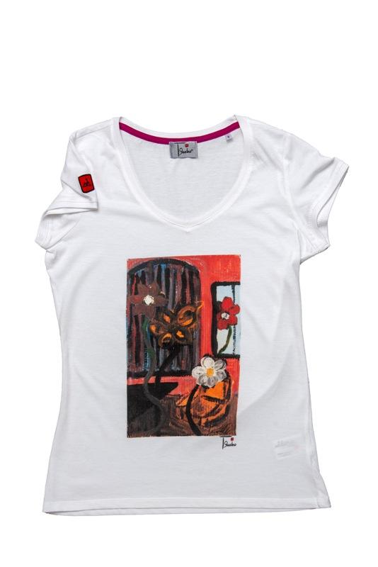 t-shirt woman | tema floreale Amaranta